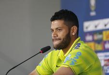 Hulk durante entrevista coletiva em Teresópolis. 15/06/2014 REUTERS/Marcelo Regua
