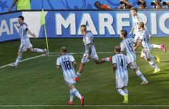 Messi comemora gol contra o Irã.   REUTERS/Leonhard Foeger