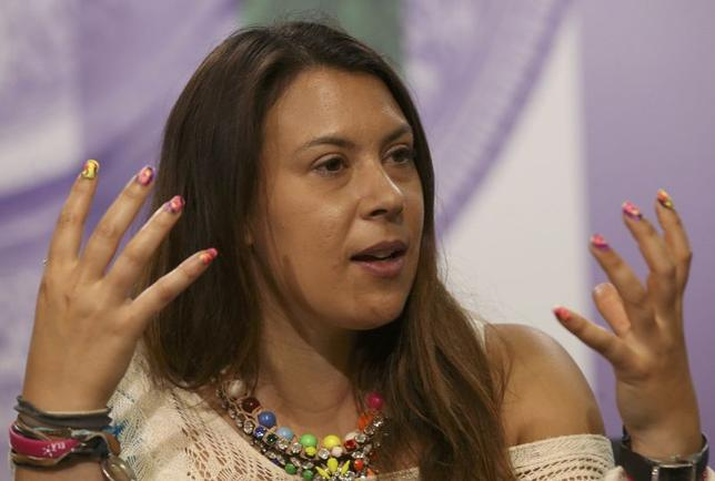 Marion Bartoli of France attends a news conference the day before the start of the Wimbledon Tennis Championships, in London June 22, 2014.  REUTERS/Scott Heavey/AELTC/Pool