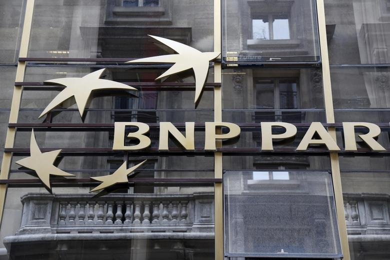 The logo of BNP Paribas is seen on the bank's building in Paris, May 30, 2014. REUTERS/Charles Platiau