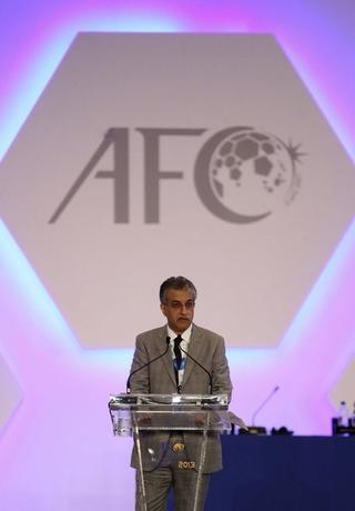 New Asian Football Confederation (AFC) President Sheikh Salman Bin Ebrahim Al Khalifa delivers his address during an AFC Extraordinary Congress in Kuala Lumpur May 2, 2013. REUTERS/Stringer
