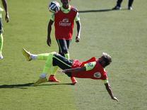 Neymar durante treino da seleção brasileira em Belo Horizonte. 27/06/2014    REUTERS/Toru Hanai