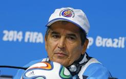 Treinador da Costa Rica Jorge Luis Pinto durante entrevista coletiva na Arena Pernambuco, Recife. 28/6/ 2014. REUTERS/Brian Snyder