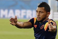 Carlos Sánchez, da seleção da Colômbia, durante treino em Cuiabá. 30/06/2014. REUTERS/Eric Gaillard