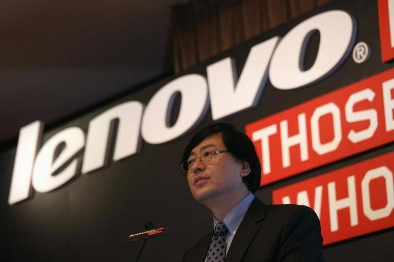 Lenovo Chairman and Chief Executive Officer Yang Yuanqing speaks during a news conference announcing the company's annual results in Hong Kong May 21, 2014. REUTERS/Bobby Yip/Files
