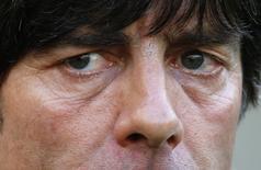 Técnico da Alemanhã Joachim Loew durantre partida contra a França no Maracanã.  4/7/2014.   REUTERS/Kai Pfaffenbach