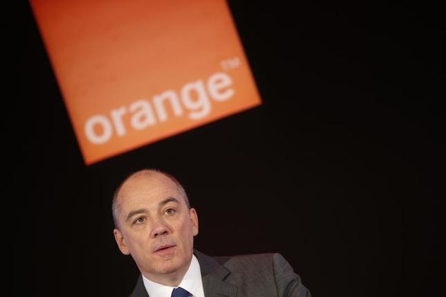 France Telecom Orange Chief Executive Stephane Richard attends the company's 2013 annual results presentation in Paris March 6, 2014.   REUTERS/Jacky Naegelen