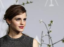 Emma Watson poses at the 86th Academy Awards in Hollywood, California in this file photo from March 2, 2014.  REUTERS/ Mario Anzuoni/Files