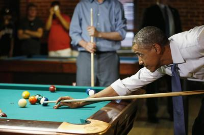 Obama at the bar