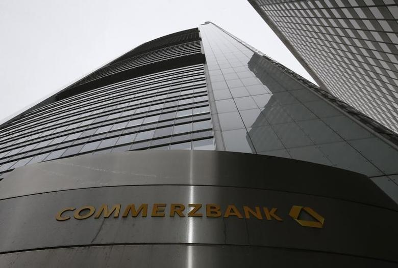 The headquarters of the Commerzbank AG is pictured before the bank's annual news conference in Frankfurt February 13, 2014. REUTERS/Ralph Orlowski