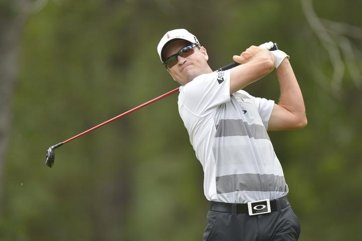 Jun 12, 2014; Pinehurst, NC, USA;  Zach Johnson tees off on the 10th tee during the first round of the 2014 U.S. Open golf tournament at Pinehurst Resort Country Club - #2 Course. Mandatory Credit: Kevin Liles-USA TODAY Sports