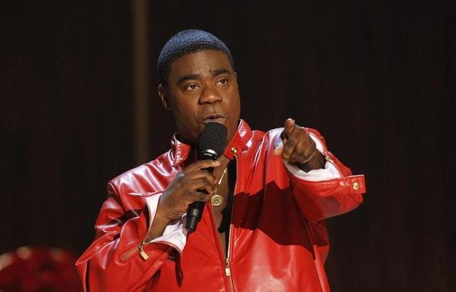 Actor Tracy Morgan speaks during the taping of the Spike TV special tribute ''Eddie Murphy: One Night Only'' at the Saban theatre in Beverly Hills, California November 3, 2012. The program airs November 14.  REUTERS/Mario Anzuoni