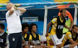 Técnico da seleção  brasileira, Luiz Felipe Scolari, durante derrota contra a Holanda. 12/07/2014. REUTERS/Ueslei Marcelino