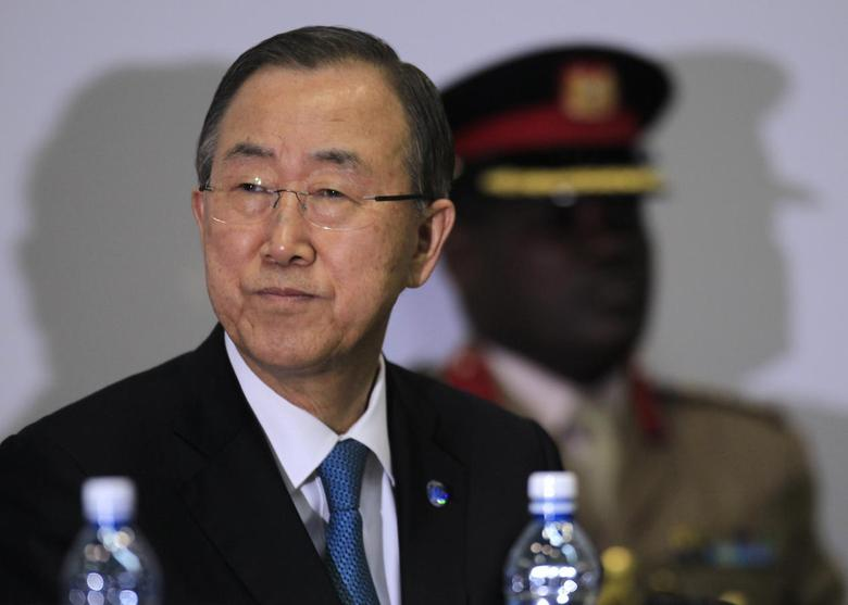 U.N. Secretary-General Ban Ki-moon attends the first United Nations Environment Assembly (UNEA) in Nairobi June 27, 2014. REUTERS/Noor Khamis