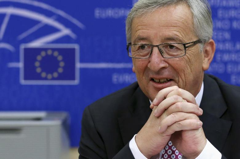 Jean-Claude Juncker, the designated president of the European Commission, attends a meeting with the European Conservatives and Reformists (ECR) Group in the European Parliament to outline his policy program at the EU Parliament in Brussels July 8, 2014.   REUTERS/Francois Lenoir