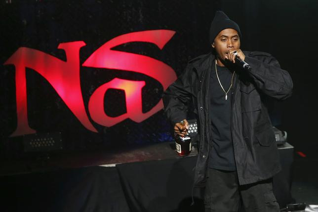 File photograph shows Rapper Nas performing after the 2014 Tribeca Film Festival opening night screening of 'Time Is Illmatic' in New York April 16, 2014. REUTERS/Shannon Stapleton/Files