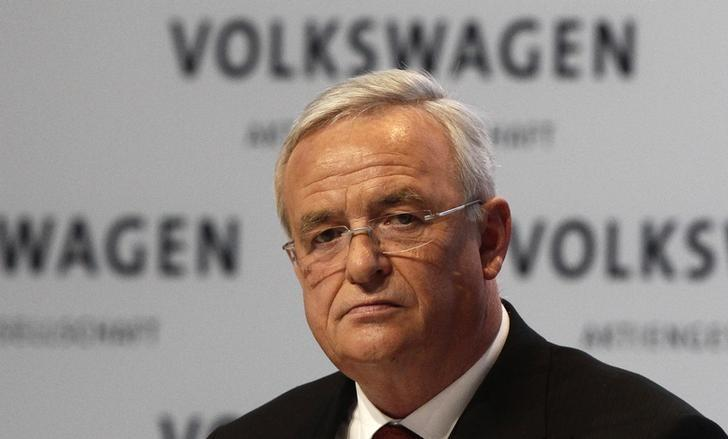 Volkswagen Chief Executive Martin Winterkorn addresses the annual news conference in Berlin March 13, 2014.  REUTERS/Tobias Schwarz