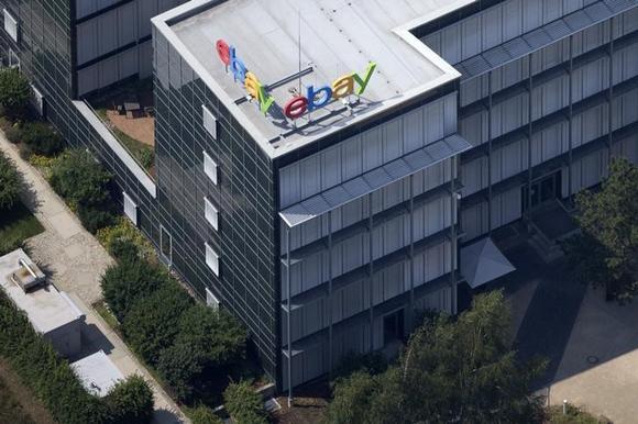 Aerial view of German ebay headquarters in Kleinmachnow July 20, 2014. REUTERS/Axel Schmidt