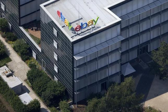 Aerial view of German ebay headquarters in Kleinmachnow July 20, 2014. REUTERS/Axel Schmidt