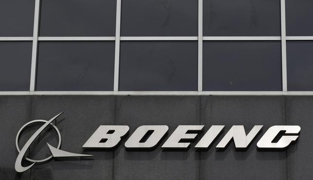 The Boeing logo is seen at their headquarters in Chicago, April 24, 2013. REUTERS/Jim Young