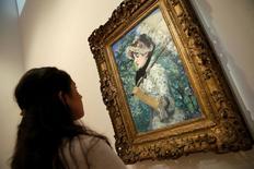 """""""Le Printemps"""", célèbre portrait de femme peint par Edouard Manet en 1881, sera vendu aux enchères le 5 novembre par la maison Christie's. /Photo prise le 1er août 2014/REUTERS/Mike Segar"""