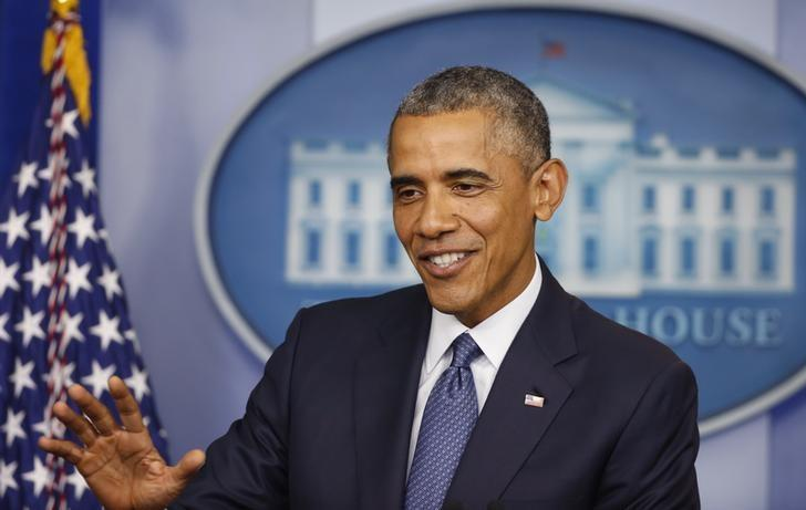 U.S. President Barack Obama at the White House in Washington, August 1, 2014.    REUTERS/Larry Downing