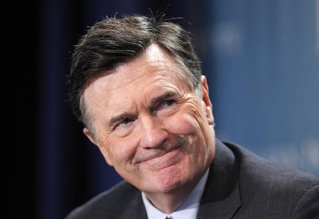 Dennis Lockhart, President, Federal Reserve Bank of Atlanta, takes part in a panel discussion titled ''Twist and Shout: The Limits of U.S. Monetary Policy'' at the Milken Institute Global Conference in Beverly Hills, California May 1, 2012. REUTERS/Danny Moloshok