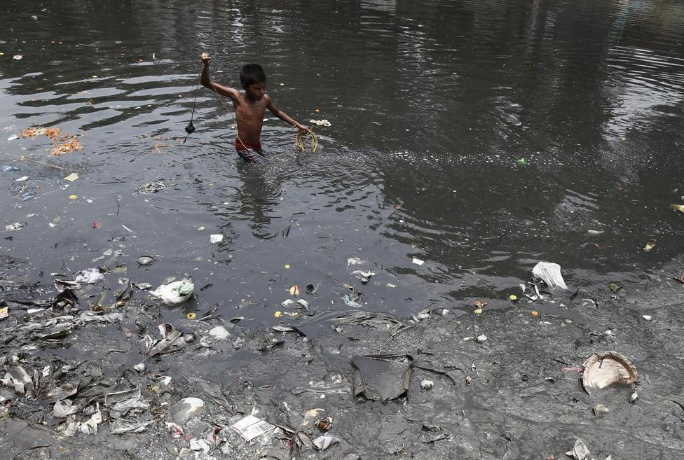 Polluted rivers in India