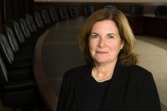 Kansas City Federal Reserve Bank President Esther George is pictured in the bank's boardroom in this handout photo courtesy of the Kansas City Federal Reserve. REUTERS/Kansas City Federal Reserve/Handout