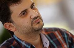 Ashraf Mashharawi, diretor de Gaza, fala durante entrevista no festival de cinema de Sarajevo. 22/8/2014.  REUTERS/Dado Ruvic