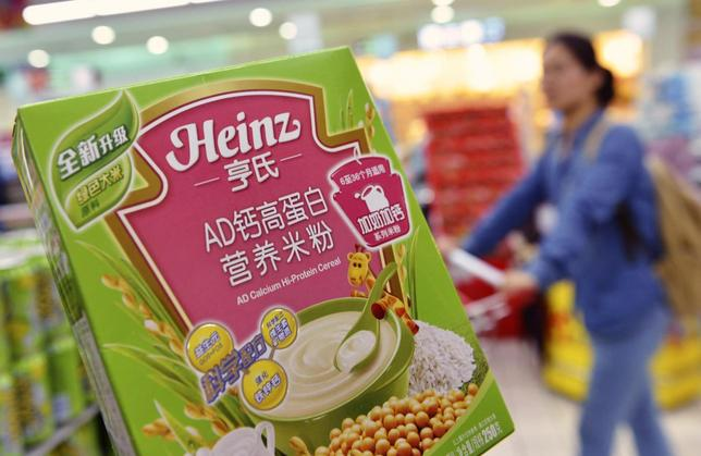 A box of Heinz AD Calcium Hi-Protein Cereal, which is part of a batch of the cereal not affected by a recent recall, is pictured at a supermarket in Hangzhou, Zhejiang province August 18, 2014.  REUTERS/Stringer