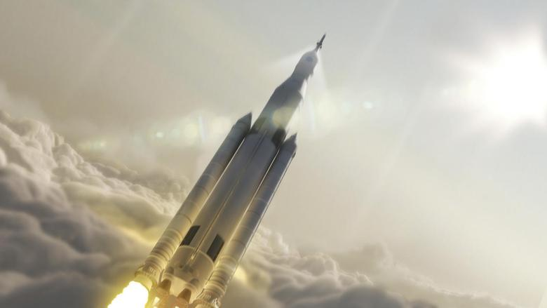 NASA's Space Launch System (SLS) 70-metric-ton configuration is seen launching to space in this undated artist's rendering released August 2, 2014.   REUTERS/NASA/MSFC/Handout via Reuters