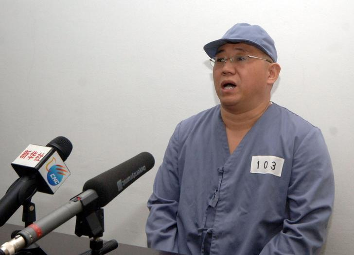 Kenneth Bae, a Korean-American Christian missionary who has been detained in North Korea for more than a year, appears before a limited number of media outlets in Pyongyang in this undated photo released by North Korea's Korean Central News Agency (KCNA) on January 20, 2014.  REUTERS/KCNA