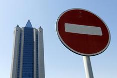 Офис Газпрома в Москве 3 июня 2014 года. Швейцария может предъявить двум руководителям Газпрома обвинения в коррупции, сообщила федеральная прокуратура страны, подтвердив сообщение в СМИ. REUTERS/Maxim Shemetov