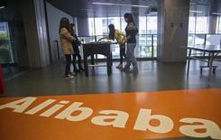 La sede de Alibaba en Hangzhou, China, abr 23 2014. La compañía de comercio electrónico china Alibaba Group Holding Ltd dijo que espera un precio de entre 60 y 66 dólares por acción cuando lance su oferta pública inicial en Estados Unidos. REUTERS/Chance Chan IMAGEN DE ARCHIVO, NO DISPONIBLE PARA SU USO COMERCIAL O DE VENTAS EDITORIALES EN CHINA