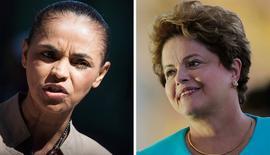 Candidata do PSB à Presidência, Marina Silva, e presidente e candidata à reeleição, Dilma Rousseff (PT). REUTERS/Bruno Santos (esquerda) e REUTERS/Ueslei Marcelino