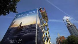 "Propaganda para novo álbum do Pink Floyd, ""The Endless River"", é instalada em Londres. 22/09/2014 REUTERS/Luke MacGregor"