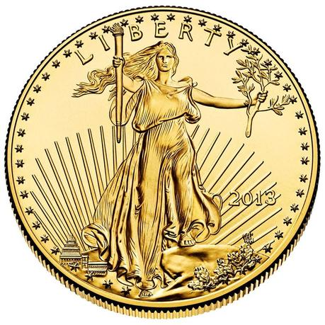 The obverse of the American Eagle gold buillion coin is shown in this undated handout photo. REUTERS/U.S. Mint/Handout