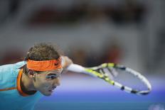 Tenista espanhol Rafael Nadal nas quartas de final do Aberto da China, em Pequim. 03/10/2014 REUTERS/Jason Lee