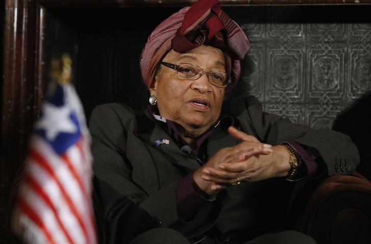 Liberian President Ellen Johnson-Sirleaf speaks during an interview with Reuters in Brussels November 25, 2013. REUTERS/Francois Lenoir