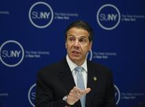 New York Governor Andrew Cuomo makes an announcement on a new sexual assault policy for the State University of New York (SUNY) campuses in front of the SUNY Board of Trustees in New York, October 2, 2014.  REUTERS/Shannon Stapleton