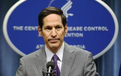 Diretor do Centro de Controle e Prevenção de Doenças dos Estados Unidos, Thomas Frieden, durante pronunciamento em Atlanta, no Estado da Georgia, EUA. 30/09/2014. REUTERS/Tami Chappell
