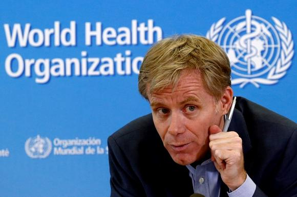 World Health Organization (WHO) Assistant Director General Bruce Aylward gestures during a news conference at the organization's headquarters in Geneva October 29, 2014. REUTERS/Denis Balibouse