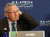 Foto do então vice-presidente da Zâmbia, Guy Scott, durante cúpula EUA-África em Washington, nos Estados Unidos, em agosto. 06/08/2014 REUTERS/Larry Downing