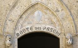 The entrance of Monte dei Paschi bank headquaters is pictured in downtown Siena, August 16, 2014.  REUTERS/Stefano Rellandini