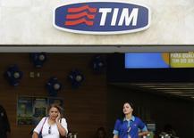 Loja da companhia de telefonia móvel Tim no centro do Rio de Janeiro. 20/08/2014. REUTERS/Pilar Olivares