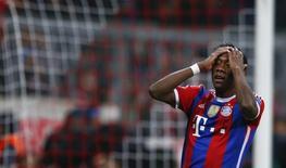 Jogador do Bayern de Munique Alaba em partida contra a Roma em Munique. 05/11/2014  REUTERS/Michael Dalder