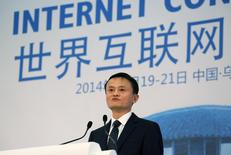 Alibaba Group Executive Chairman Jack Ma speaks at the World Internet Conference in Wuzhen township, Zhejiang province, November 19, 2014. REUTERS/Stringer