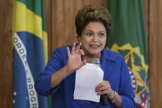 Presidente Dilma Roussef durante encontro com lideranças do PSD no Palácio do Planalto, em Brasília. 5/11/2014. REUTERS/Ueslei Marcelino