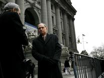 Irving Picard. the bankruptcy trustee in the Bernard Madoff case, speaks to the press outside the U.S. Bankruptcy Court in New York February 2, 2010.  REUTERS/Brendan McDermid